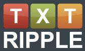 Text Ripple Logo